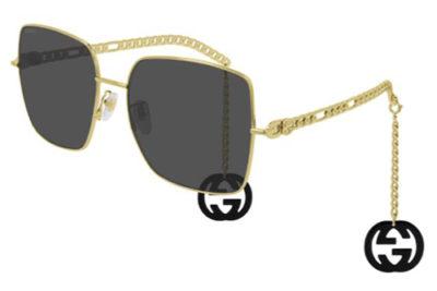 Gucci GG0724S 001 gold gold grey 61 Women's Sunglasses