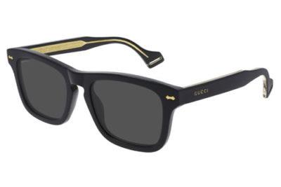 Gucci GG0735S 001 black black grey 53 Men's Sunglasses