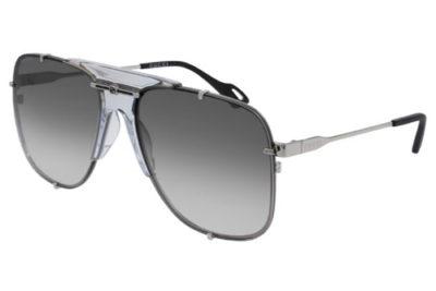 Gucci GG0739S 001 silver silver grey 63 Women's Sunglasses