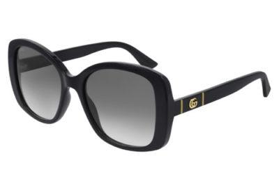 Gucci GG0762S 001 black black grey 56 Women's Sunglasses