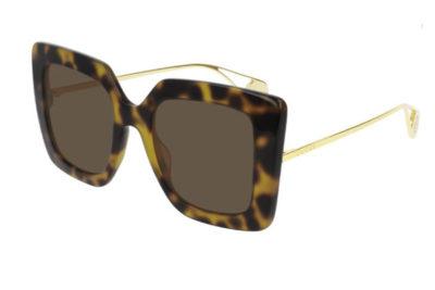 Gucci GG0435S 003 havana gold brown 51 Women's Sunglasses