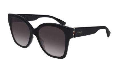 Gucci GG0459S 001 black gold grey 54 Women's Sunglasses