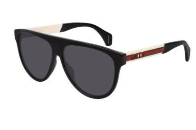 Gucci GG0462S 002 black white grey 58 Men's Sunglasses