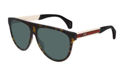 Gucci GG0462S 003 havana white green 58 Men's Sunglasses