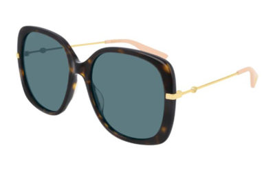 Gucci GG0511S 004 havana gold blue 57 Women's Sunglasses