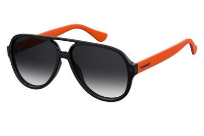 Havaianas Leblon 8LZ/9O BLACK ORANGE 59 Unisex Sunglasses