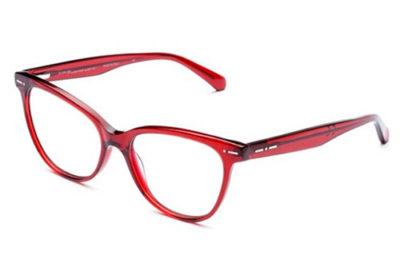 Italia Independent 5863.057.GLS bordeaux 53 Women's Eyeglasses