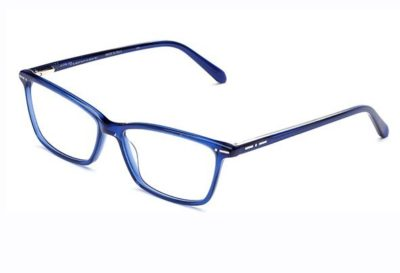 Italia Independent 5866.021.GLS dark blue glossy 54 Men's Eyeglasses