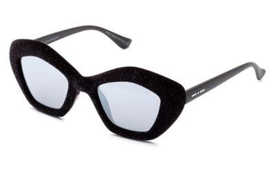 Italia Independent 0943V.009.GLT glitter velvet black 49 Women's Sunglasses