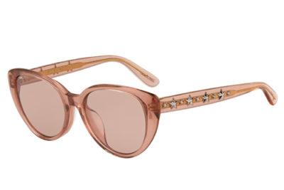 Jimmy Choo Elsie/f/s W66/2S PINK GLITTER 54 Women's Sunglasses