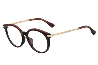 Jimmy Choo Jc254/f 2PI/16 BRWGLTT BRWN 51 Women's Eyeglasses