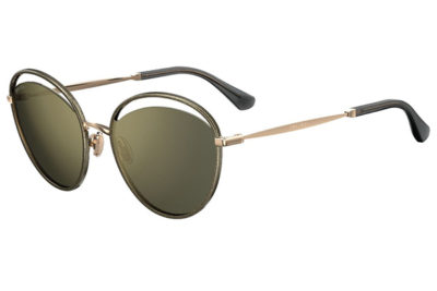 Jimmy Choo Malya/s W8Q/K1 GOLD GLTTGRY 59 Women's Sunglasses