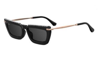 Jimmy Choo Vela/g/s FP3/IR BKGD BK LEOP 55 Women's Sunglasses