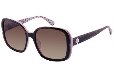 Kate Spade Elianna/g/s 0T4/LA HAVANA PINK 55 Women's Sunglasses