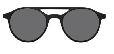 MODO PIAVE clip on black  tort gradient 48 Unisex Sunglasses