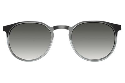 MODO DIDESSA clip on blue grey 48 Unisex Eyeglasses