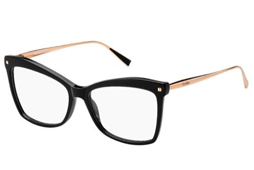 Max Mara Mm 1288 06K/16 BLKGLDCOPPER 55 Women's Eyeglasses