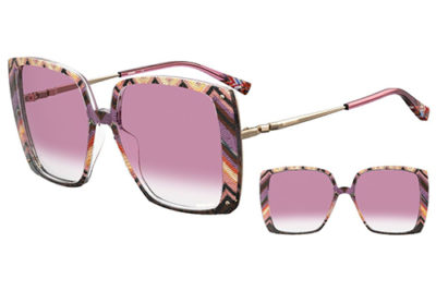 Missoni Mis 0002/s OBL/3X GRAPHIC PINK 58 Women's Sunglasses
