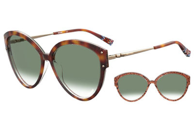 Missoni Mis 0004/s 2NL/9K SMOKEY BLUE 59 Women's Sunglasses