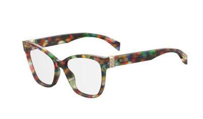 Moschino Mos510 F74/17 PURBLMKORNRD 53 Women's Eyeglasses