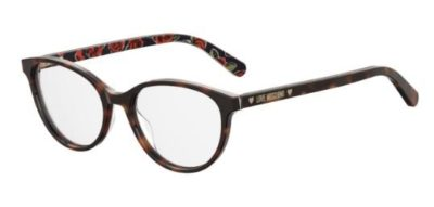 Moschino Love Mol525 05L/17 HAVANA 52 Women's Eyeglasses