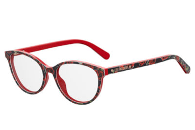 Moschino Love Mol525 0PA/17 RED PATTERN 52 Women's Eyeglasses