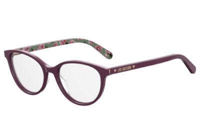 Moschino Love Mol525 0T7/17 PLUM 52 Women's Eyeglasses