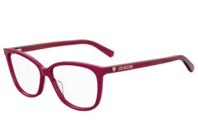 Moschino Love Mol546 8CQ/14 CHERRY 55 Women's Eyeglasses