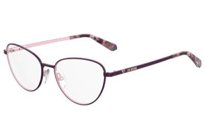 Moschino Love Mol551 0T7/16 PLUM 53 Women's Eyeglasses