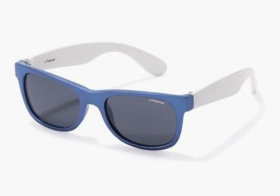 Polaroid P0300 0JU/Y2 BLUE WHITE 43 Kids Sunglasses