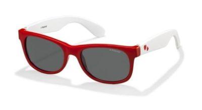 Polaroid P0300 0FT/Y2 RED WHITE 43 Kids Sunglasses