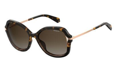 Polaroid Pld 4068/s 086/LA DARK HAVANA 55 Women's Sunglasses