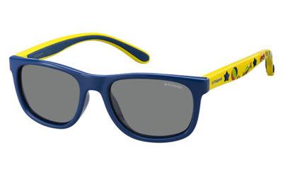 Polaroid Pld 8012/s MDY/JY BLUE YELLOW 46 Kids Sunglasses