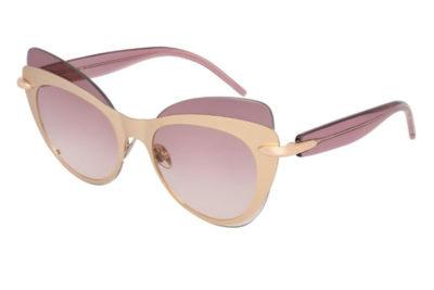 Pomellato PM0046S 002 gold violet violet 60 Women's Sunglasses