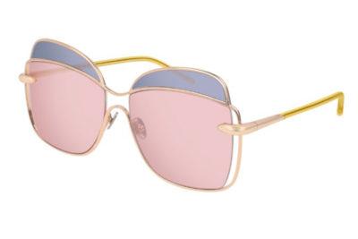 Pomellato PM0057S 003 gold yellow pink 57 Women's Sunglasses