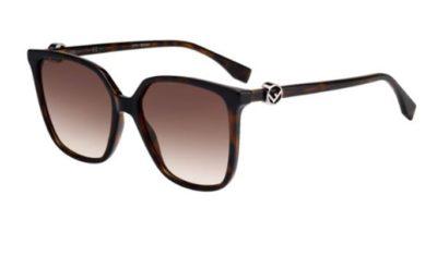 Fendi Ff 0318/s 086/HA HAVANA 57 Women's Sunglasses