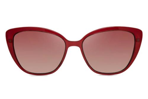 MODO GILA clip on burgundy 55 Women's Eyeglasses