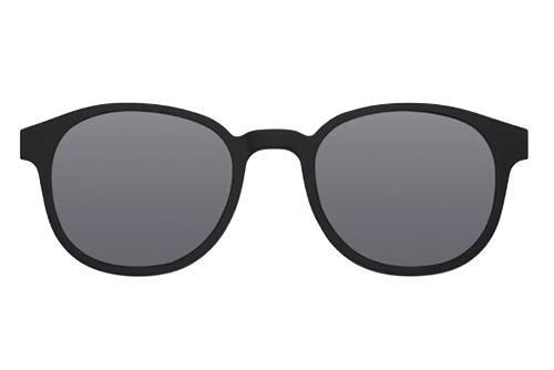 MODO GLOMMA clip on black 48 Unisex Sunglasses
