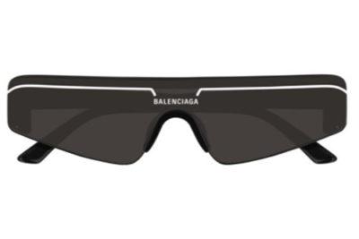 Balenciaga BB0003S 001 black black grey  Unisex Sunglasses