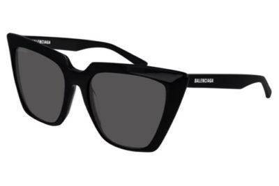 Balenciaga BB0046S 001 black black grey 55 Women's Sunglasses