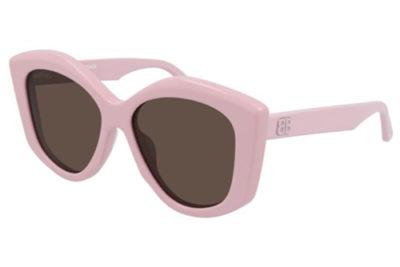 Balenciaga BB0126S 003 pink pink brown 56 Women's sunglasses