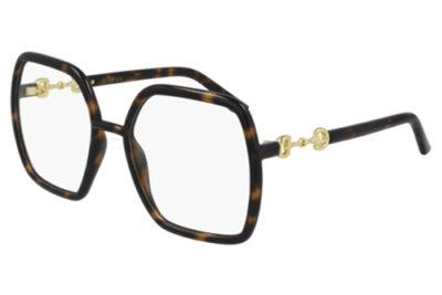 Gucci GG0890O 002 havana havana transpa 55 Women's Eyeglasses