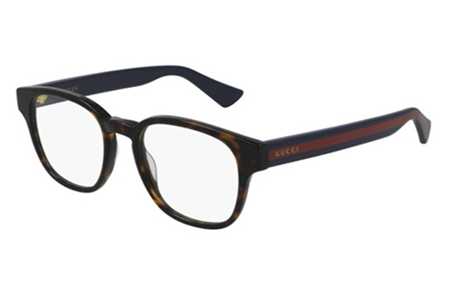 Gucci GG0927O 002 havana blue transpare 49 Men's Eyeglasses