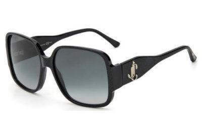 Jimmy Choo Tara/s DXF/9O GLITTER BLK 59 Women's Sunglasses