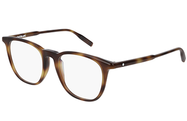 Montblanc MB0100O 002 grey silver transpare 52 Men's Eyeglasses