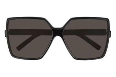 Saint Laurent SL 232 BETTY 001 black black grey 63 Women's Sunglasses