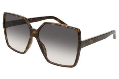 Saint Laurent SL 232 BETTY 003 avana avana grey 63 Women's Sunglasses