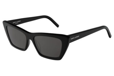 Saint Laurent SL 276 MICA 001 black black grey 53 Women's Sunglasses