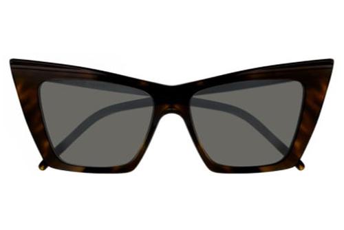 Saint Laurent SL 372 003 havana havana grey 54 Women's Sunglasses