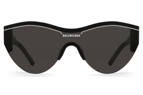 Balenciaga BB0004S 001 black black grey  Unisex Sunglasses
